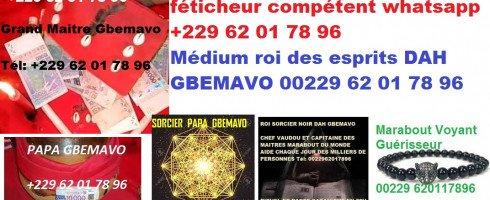 GRAND MAITRE DAH GBEMAVO POUR VOS VOYANCE AMOUR BELLINE 00229 62-01-78-96